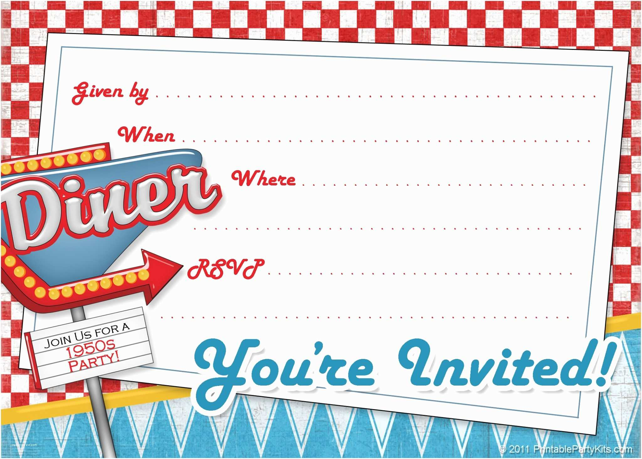 Free Printable Birthday Party Invitations Invitations
