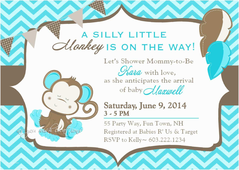 Free Printable Monkey Baby Shower Invitations 29 Impressive Baby Shower Invitation Card Designs