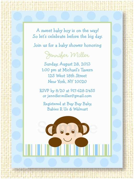 Free Printable Monkey Baby Shower Invitations 301 Moved Permanently