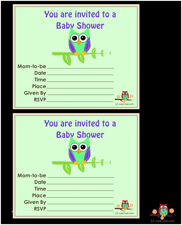 Free Printable Owl Baby Shower Invitations 11 Free Printable Owl Baby Shower Invitations