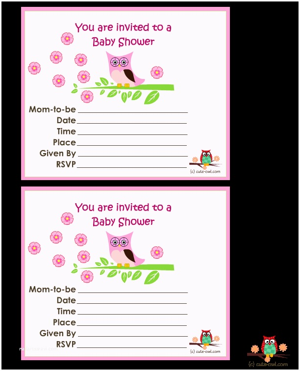 Free Printable Owl Baby Shower Invitations Baby Shower Invitations Free Printable – Gangcraft