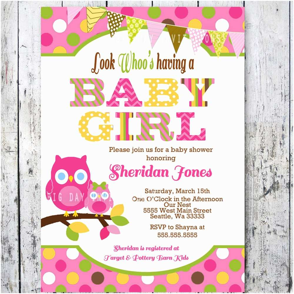 graphic relating to Printable Baby Shower Invitations Girl named Cost-free Printable Owl Youngster Shower Invites Owl Boy or girl Shower