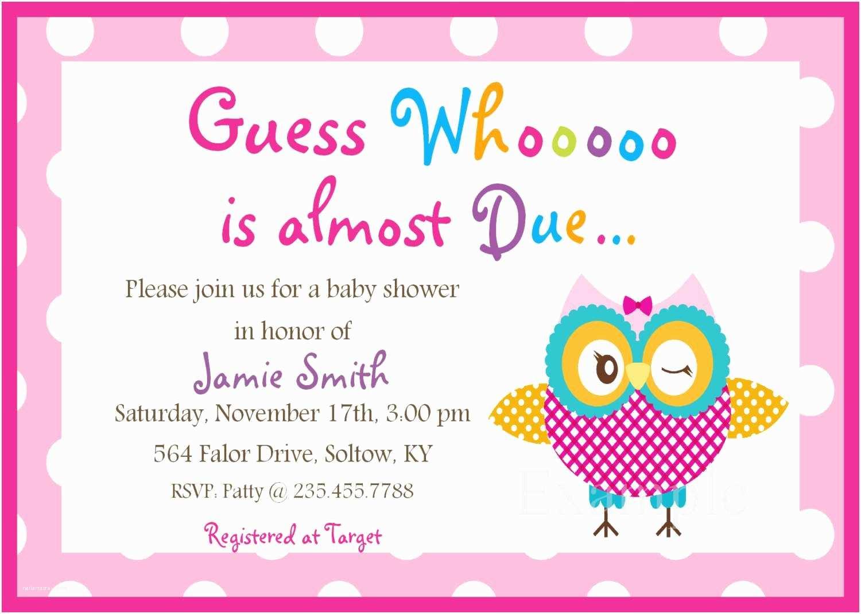 Free Printable Owl Baby Shower Invitations Free Baby Shower Invitation Templates Downloads