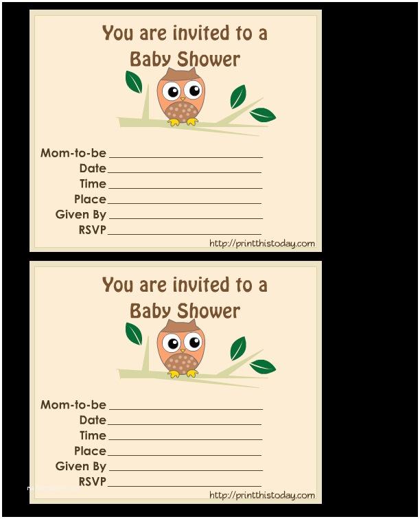 Free Printable Owl Baby Shower Invitations Free Jungle Baby Shower Invitations