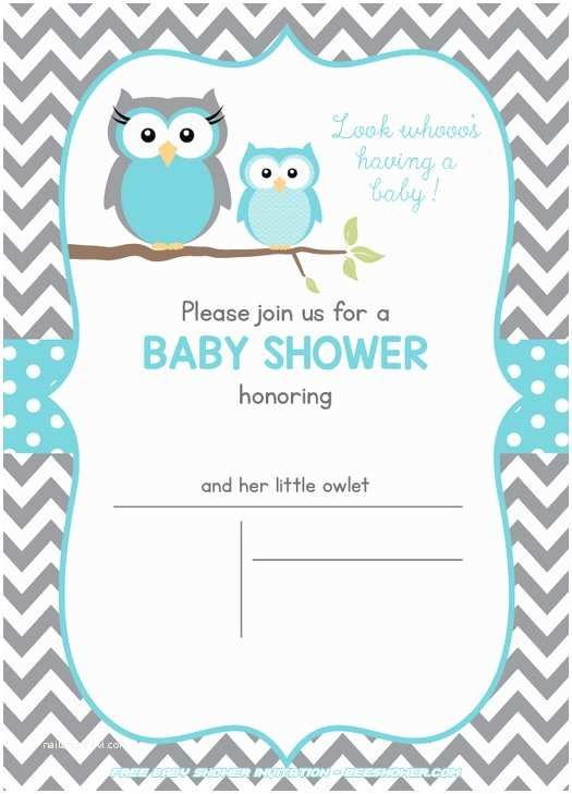 Free Printable Owl Baby Shower Invitations Free Owl Baby Shower Invitations