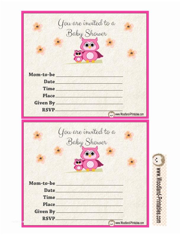 Free Printable Owl Baby Shower Invitations Free Printable Woodland Baby Shower Party Invitations