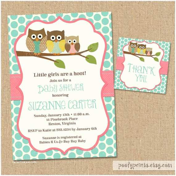 Free Printable Owl Baby Shower Invitations Owl Baby Shower Invitations Diy Printable Baby by Poofyprints