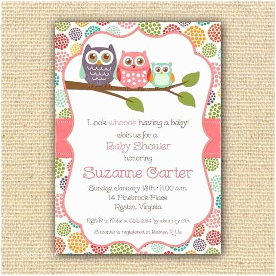 Free Printable Owl Baby Shower Invitations Owl Baby Shower Invitations Diy Printable Baby Girl