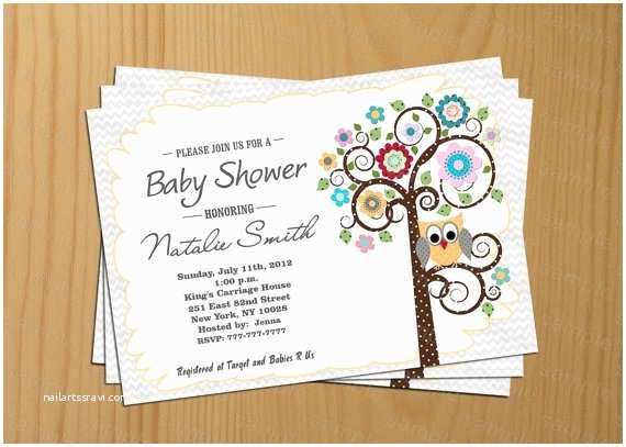 Free Printable Owl Baby Shower Invitations Plain Owl Invitations