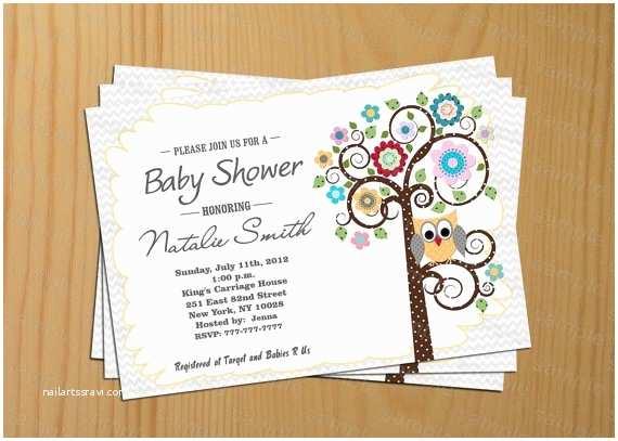plain owl invitations