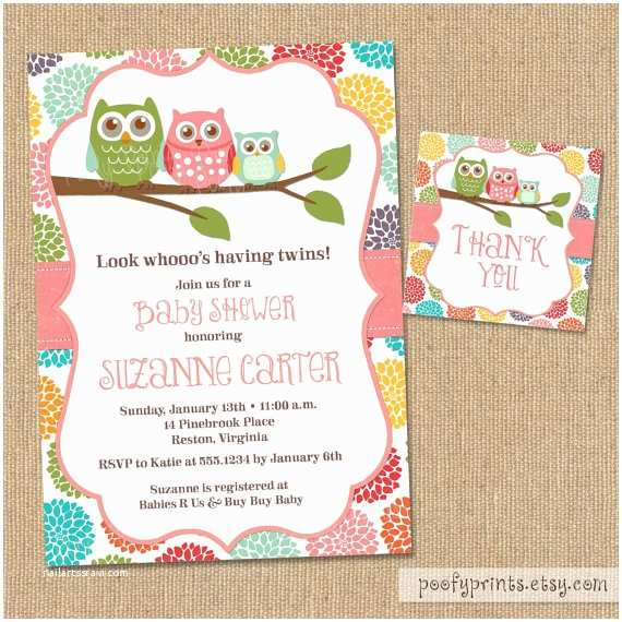 Free Printable Owl Baby Shower Invitations Unavailable Listing On Etsy