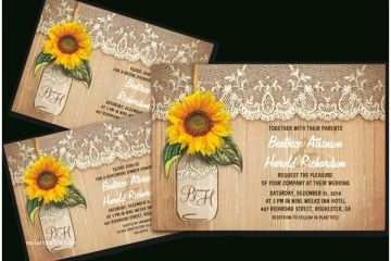 image regarding Free Printable Sunflower Template referred to as Totally free Printable Wedding day Invitation Kits Sunflower Marriage ceremony