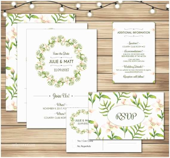 Free Printable Wedding Invitation Kits Wedding Invitation Kit Printable Wedding Invitation Suite