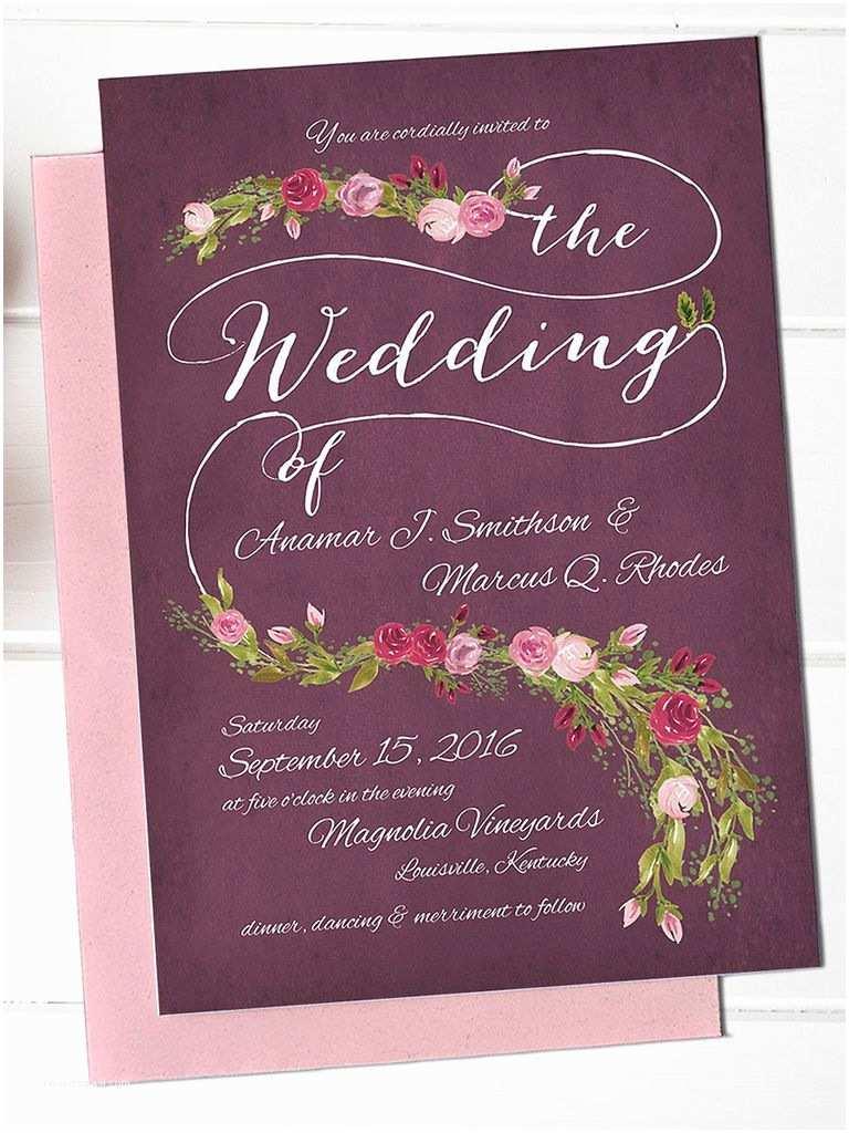 Free Printable Wedding Invitation Templates 16 Printable Wedding Invitation Templates You Can Diy