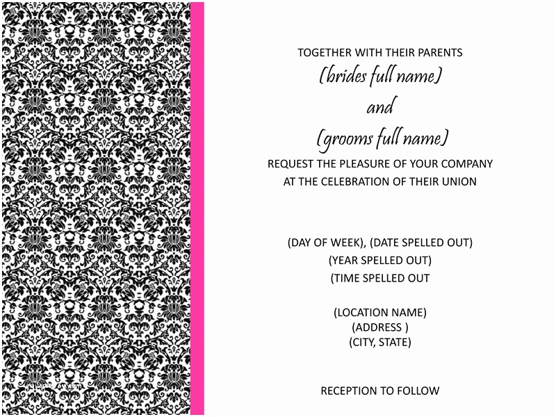 Free Printable Wedding Invitation Templates for Microsoft Word 9 Best Of Microsoft Invitation Templates Free
