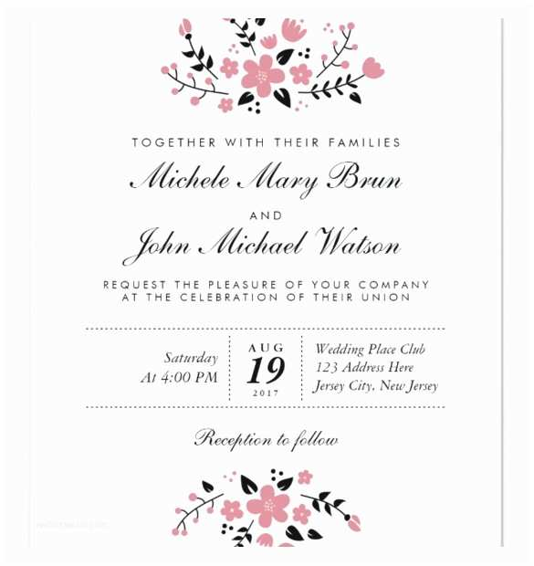 Free Printable Wedding Invitation Templates for Microsoft Word Free Printable Wedding Invitation Templates for Word