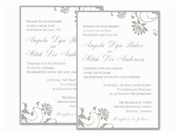 Free Printable Wedding Invitation Templates for Microsoft Word Wedding Invitations Templates for Word Free