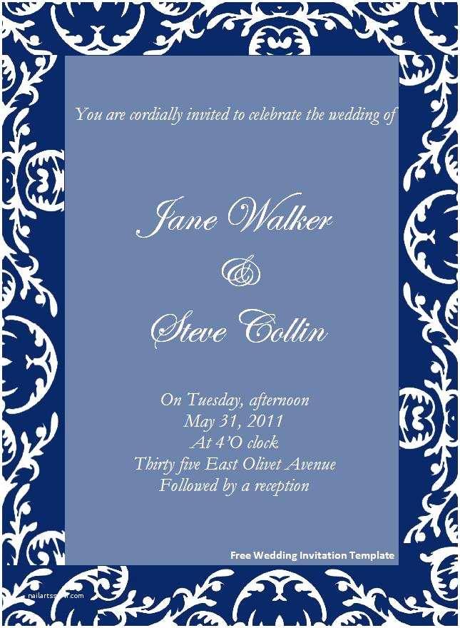 Free Printable Wedding Invitation Templates for Word 645x880 source Mirror