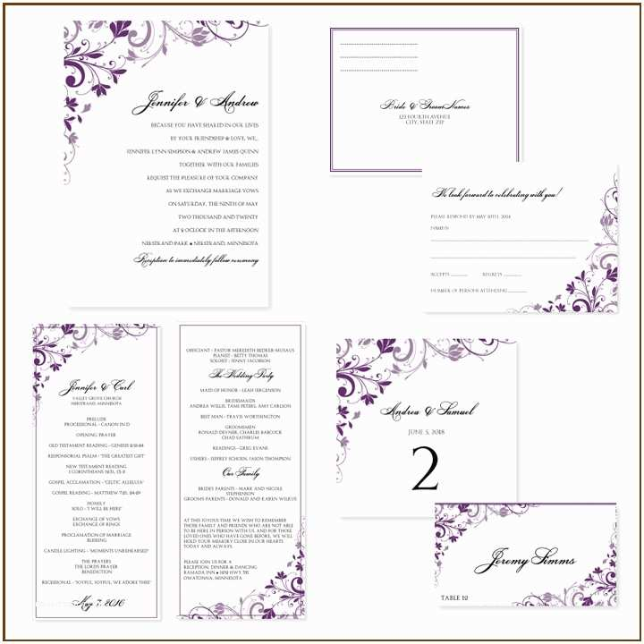 Free Printable Wedding Invitation Templates for Word Free Printable Wedding Invitation Templates for Word
