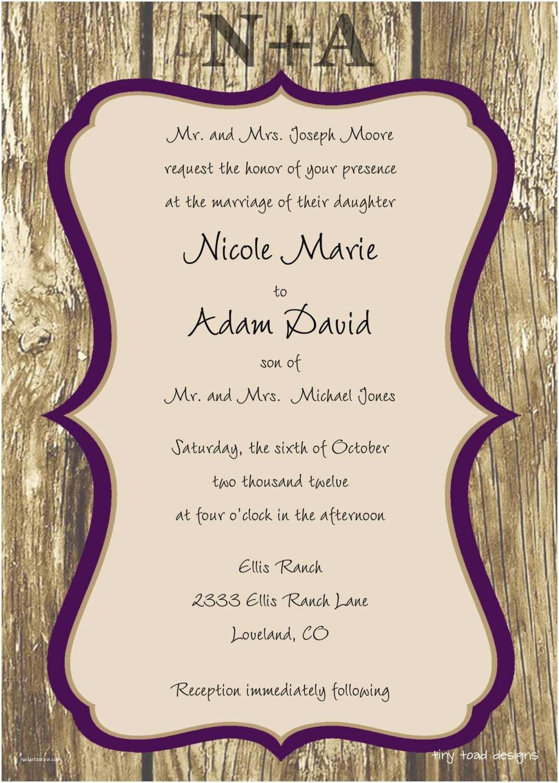 Free Printable Wedding Invitation Templates for Word Free Wedding Invitation Templates Weddingwoow