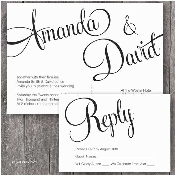 Free Printable Wedding Invitation Templates Free Printable Wedding Invitation Templates