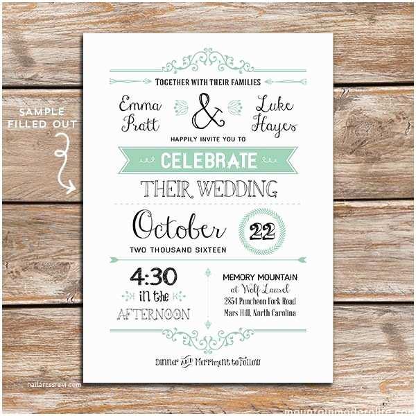 Free Printable Wedding Invitation Templates Free Wedding Invitation Template