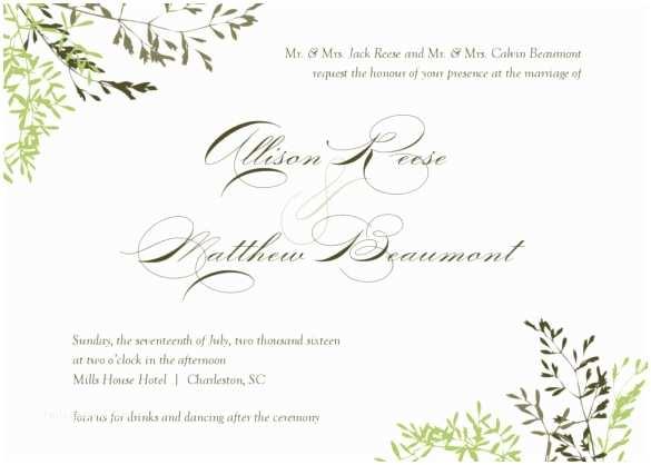 Free Printable Wedding Invitations Templates Downloads 26 Fall Wedding Invitation Templates – Free Sample