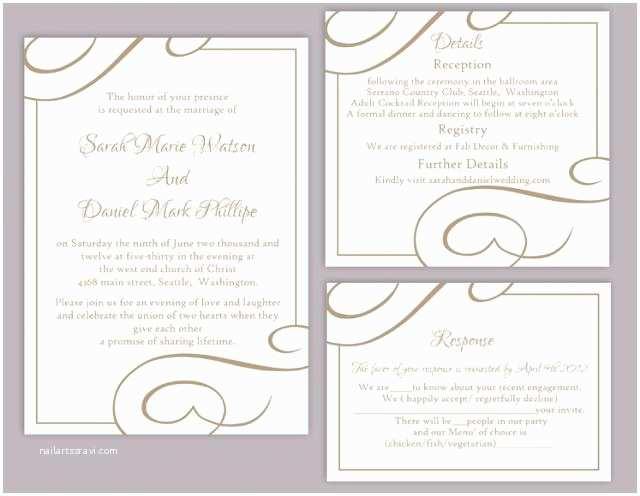 Free Printable Wedding Invitations Templates Downloads Elegant Wedding Invitation Templates Free Download