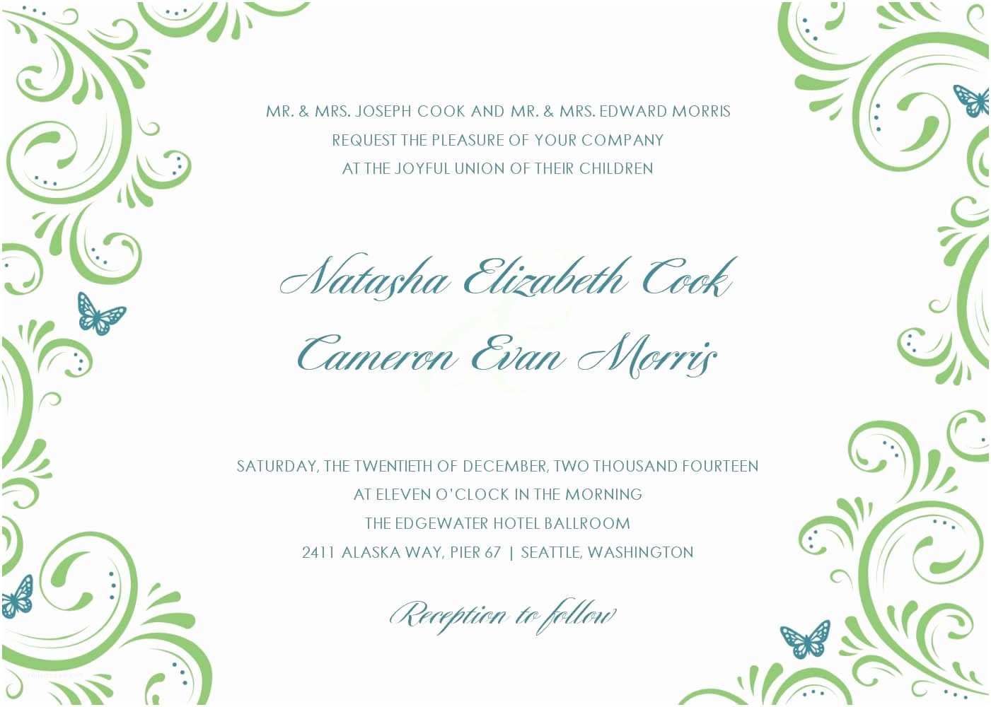 Free Printable Wedding Invitations Templates Downloads Wedding Invitation Templates Free Download – Gangcraft