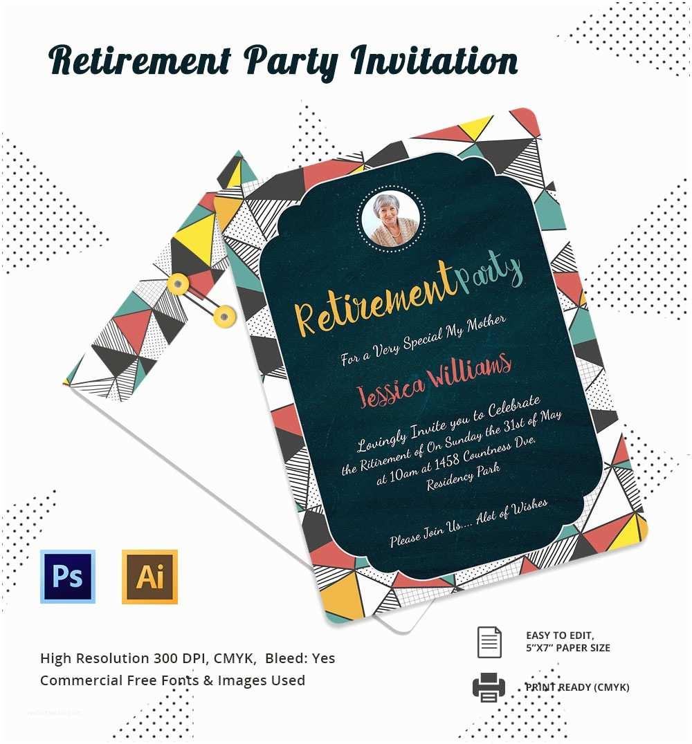 Free Retirement Invitation Templates 15 Retirement Invitation Template Free Psd Vector Eps