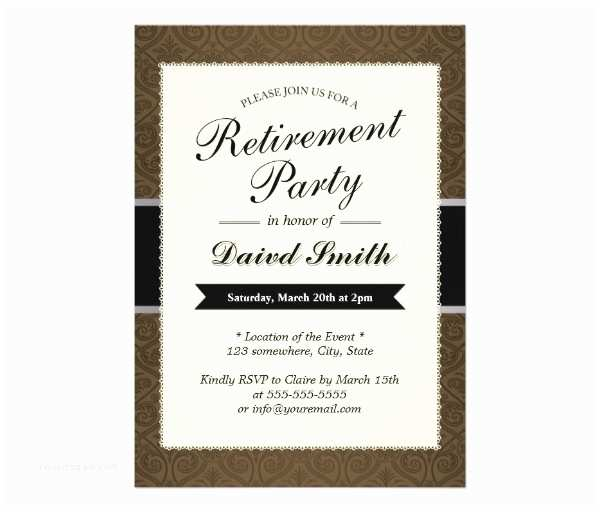 Free Retirement Invitation Templates 30 Retirement Party Invitation Design & Templates Psd