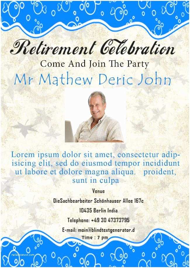 Free Retirement Invitation Templates Retirement Party Flyer Templates Demplates