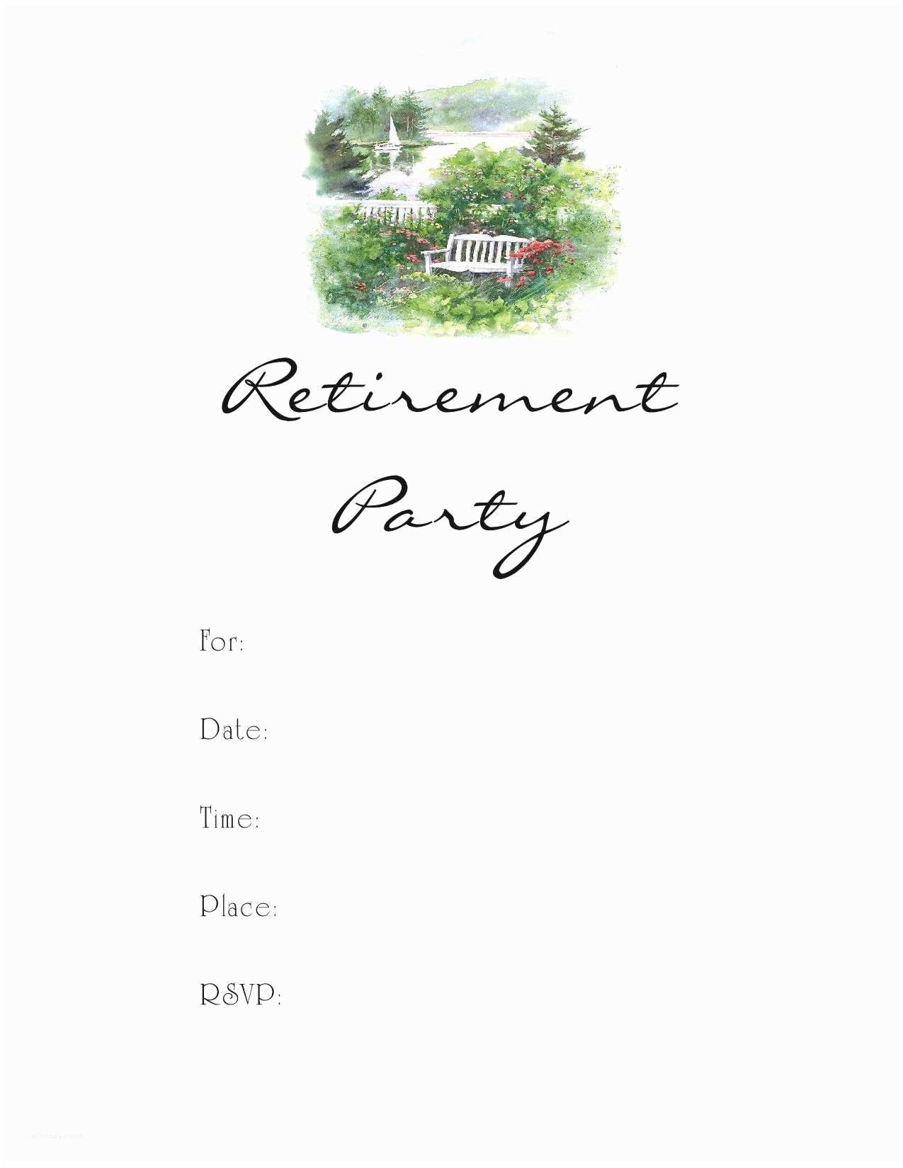 Free Retirement Invitation Templates Retirement Party Invitation Template