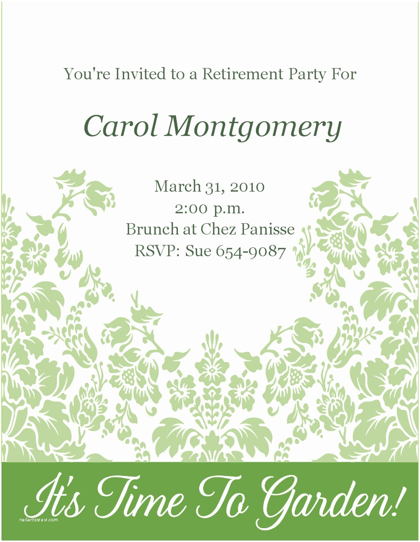 Free Retirement Invitation Templates Retirement Wording and Clipart Clipart Suggest