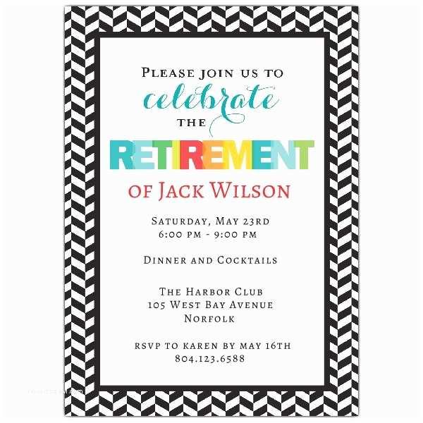 Free Retirement Invitations Modern Colorful Retirement Party Invitations