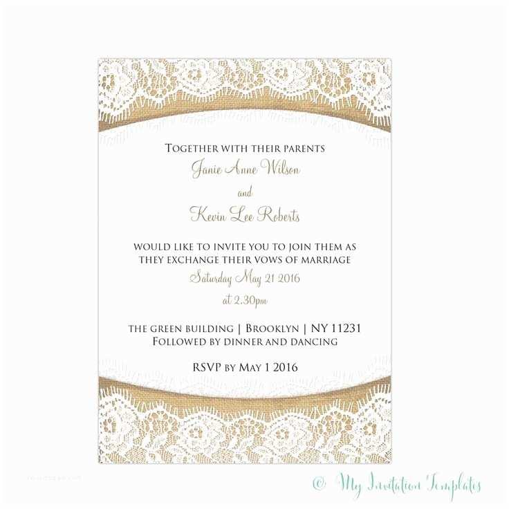 Free Rustic Wedding Invitation Templates 1000 Ideas About Wedding Invitation Templates On