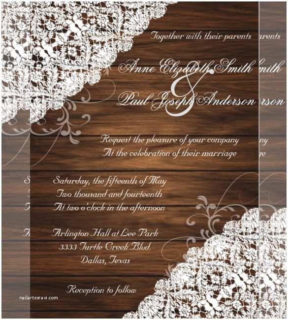 Free Rustic Wedding Invitation Templates 21 Country Wedding Invitation Templates Free Sample