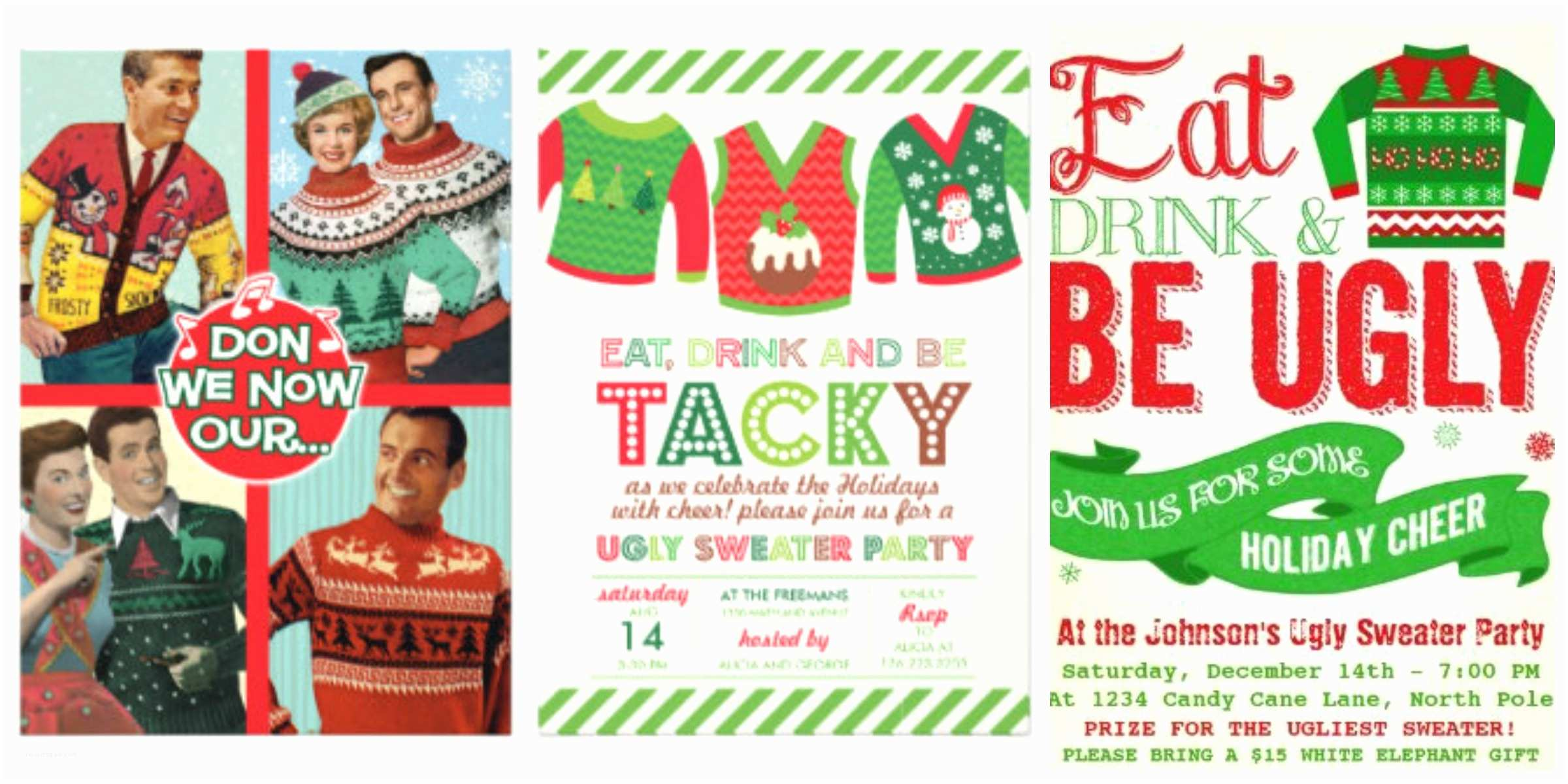 Free Ugly Sweater Party Invitations 10 Awesomely Ugly Christmas Sweaters List