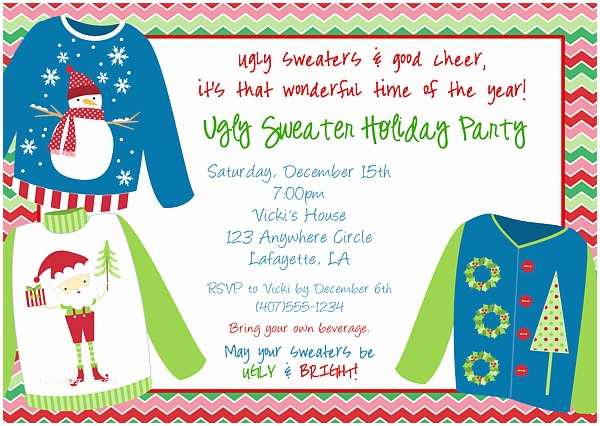 Free Ugly Sweater Party Invitations Christmas Party Invitations Ugly Sweater 3