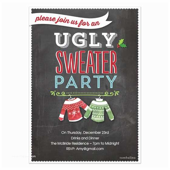 Free Ugly Sweater Party Invitations Holiday Invite Ugly Sweater Party Invitations & Cards On