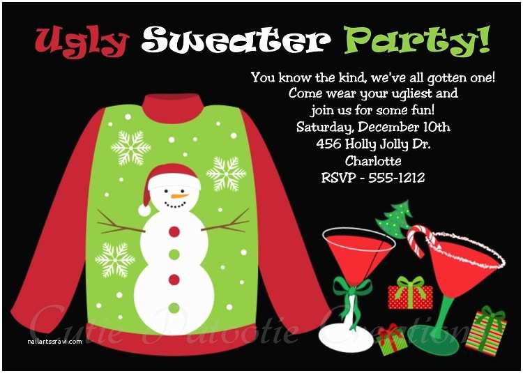Free Ugly Sweater Party Invitations the Gallery for Ugly Sweater Party Invitation Template