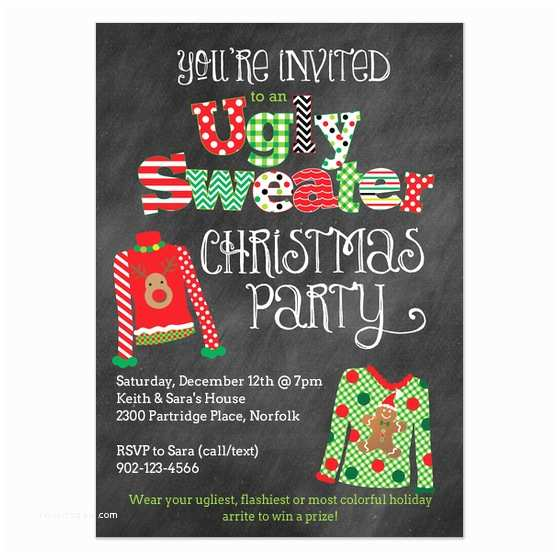 Free Ugly Sweater Party Invitations Ugly Christmas Sweater Party Invitation Invitations