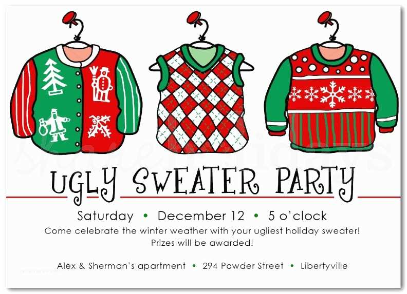 Free Ugly Sweater Party Invitations Ugly Christmas Sweater Party Invitations