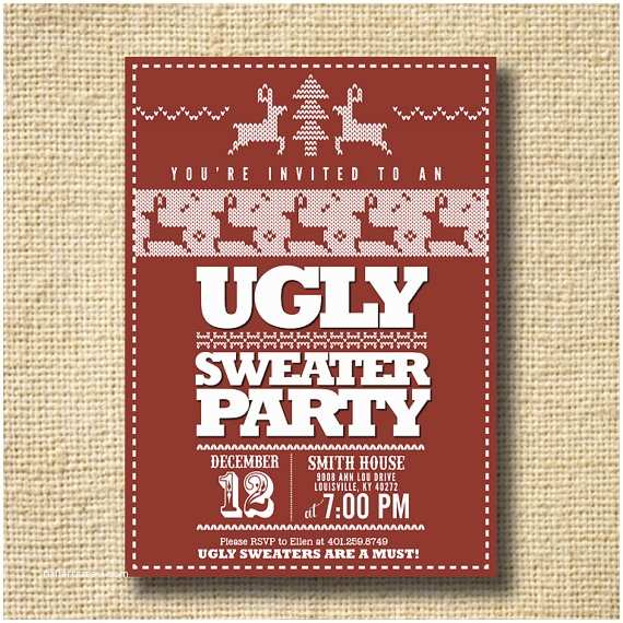 Free Ugly Sweater Party Invitations Ugly Sweater Party Invitation – Gangcraft