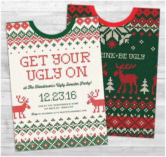 Free Ugly Sweater Party Invitations Ugly Sweater Party Invitation Ugly Sweater by