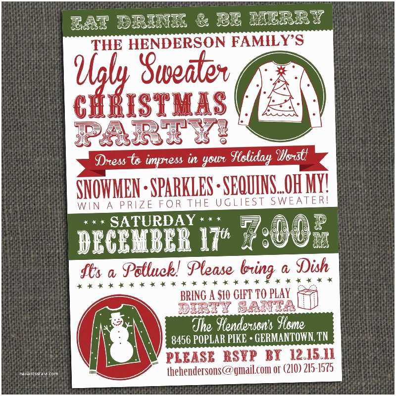Free Ugly Sweater Party Invitations Ugly Sweater Party Invitations