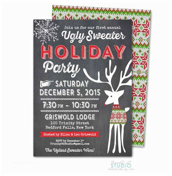 Free Ugly Sweater Party Invitations Ugly Sweater Party Invite – Gangcraft