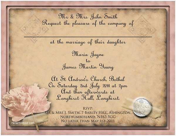 Free Vintage Wedding Invitation Templates Free Diy Vintage Wedding Invitation Templates