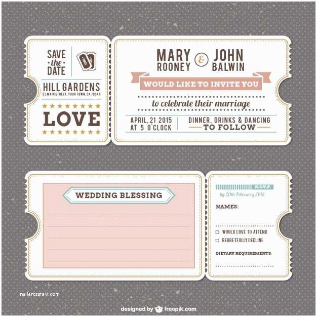 Free Vintage Wedding Invitation Templates Retro Wedding Invitation Template Vector