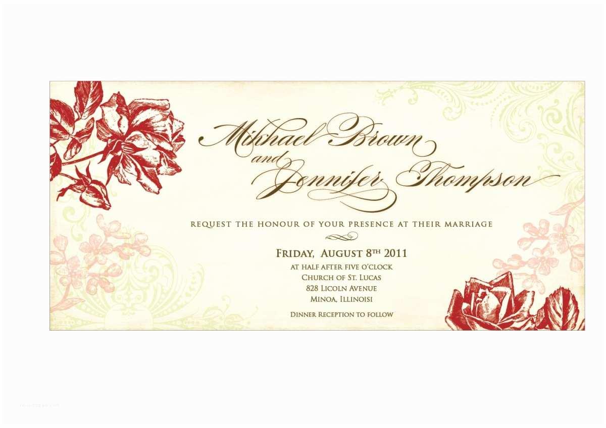 Free Vintage Wedding Invitation Templates Using Wedding Invitation Templates Wedding and Bridal